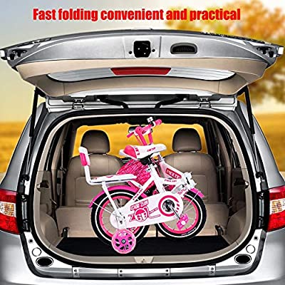Axdwfd Kids Bike Kid's Bike Steel Frame Children Bicycle Little Princess Style 12-14 Inch with Training Wheel Bicycle : Sports & Outdoors