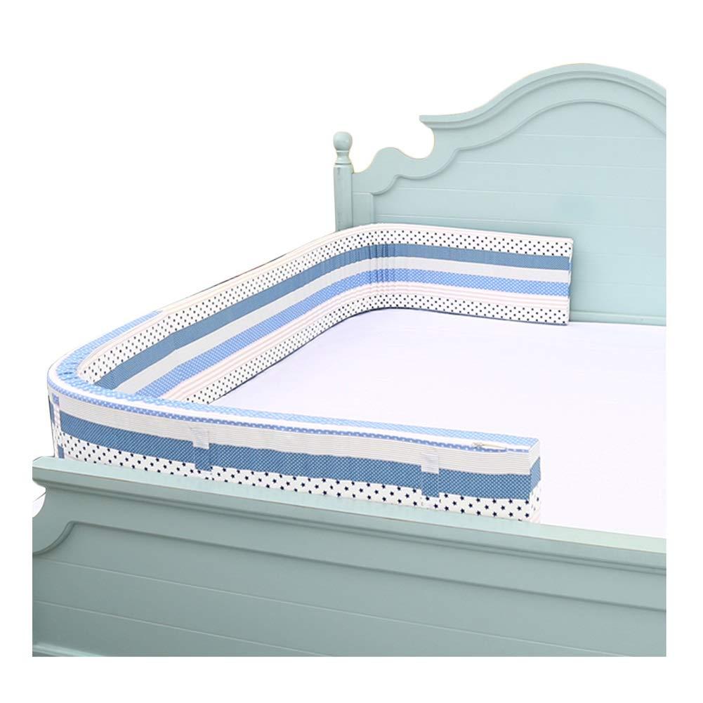 LIQICAI ベッドレール ベッドフェンス 幼児用ベッドガード バンパー 安全サイドピローパッド 高弾性スポンジ (色 : 青, サイズ さいず : 3.6m) 3.6m 青 B07R684RHM