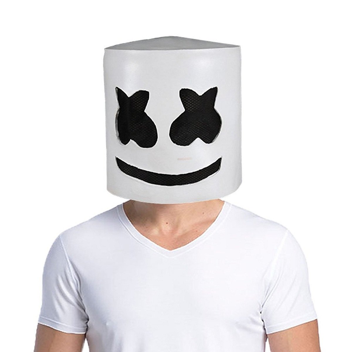 Meelanz Marshmello DJ Mask Party Props Helmet Hard Latex Solid Masks