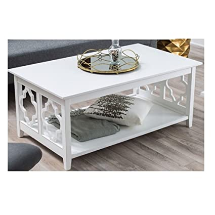 Exceptionnel White Quatrefoil Coffee Table With Solid Birch Wood Frame White Quatrefoil Coffee  Table With Solid Birch