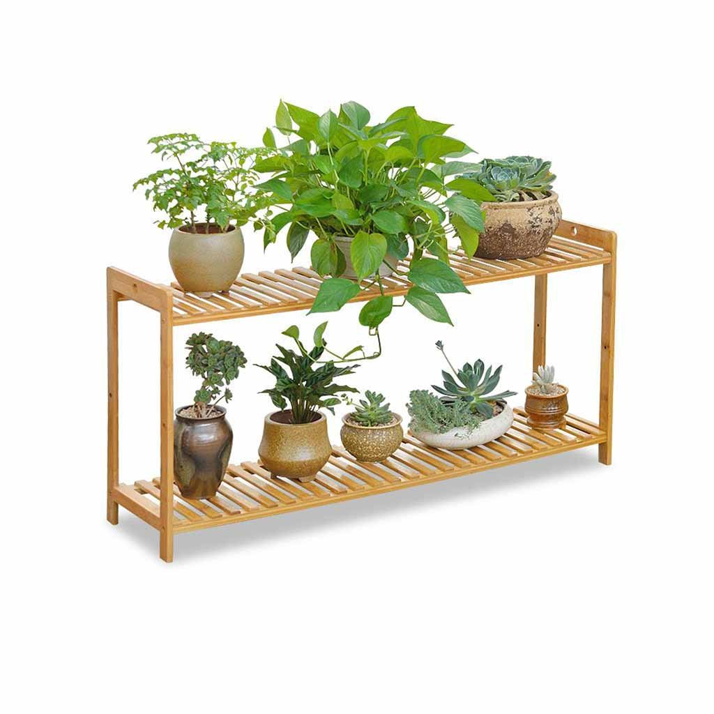 EGCLJ Balcone Flower Stand A più Strati Flower Stand Bamboo Living Room Floor Shelf Adatto per Terrazza, Balcone, Patio