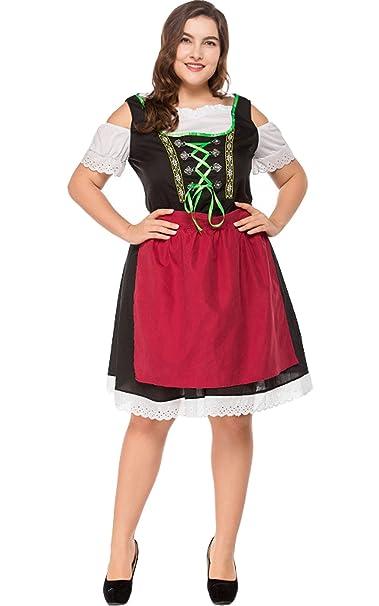 Vestido De Dirndl Set 2 Uds. Oktoberfest Ropa Traje Midi ...