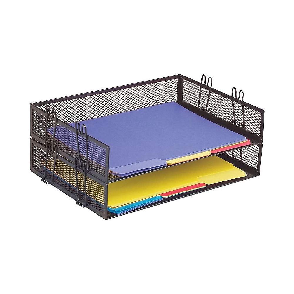 Staples Black Wire Mesh Stackable Legal Tray 1 Tray