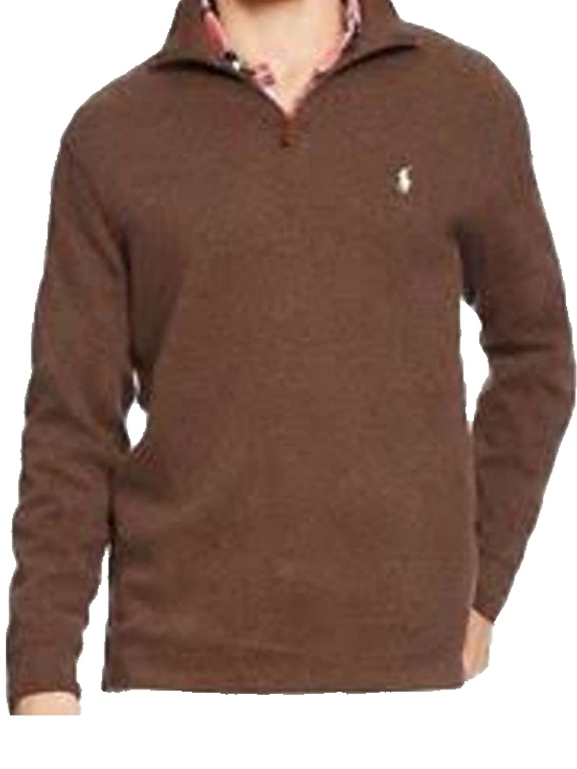 Polo Ralph Lauren Mens Half Zip French Rib Cotton Sweater