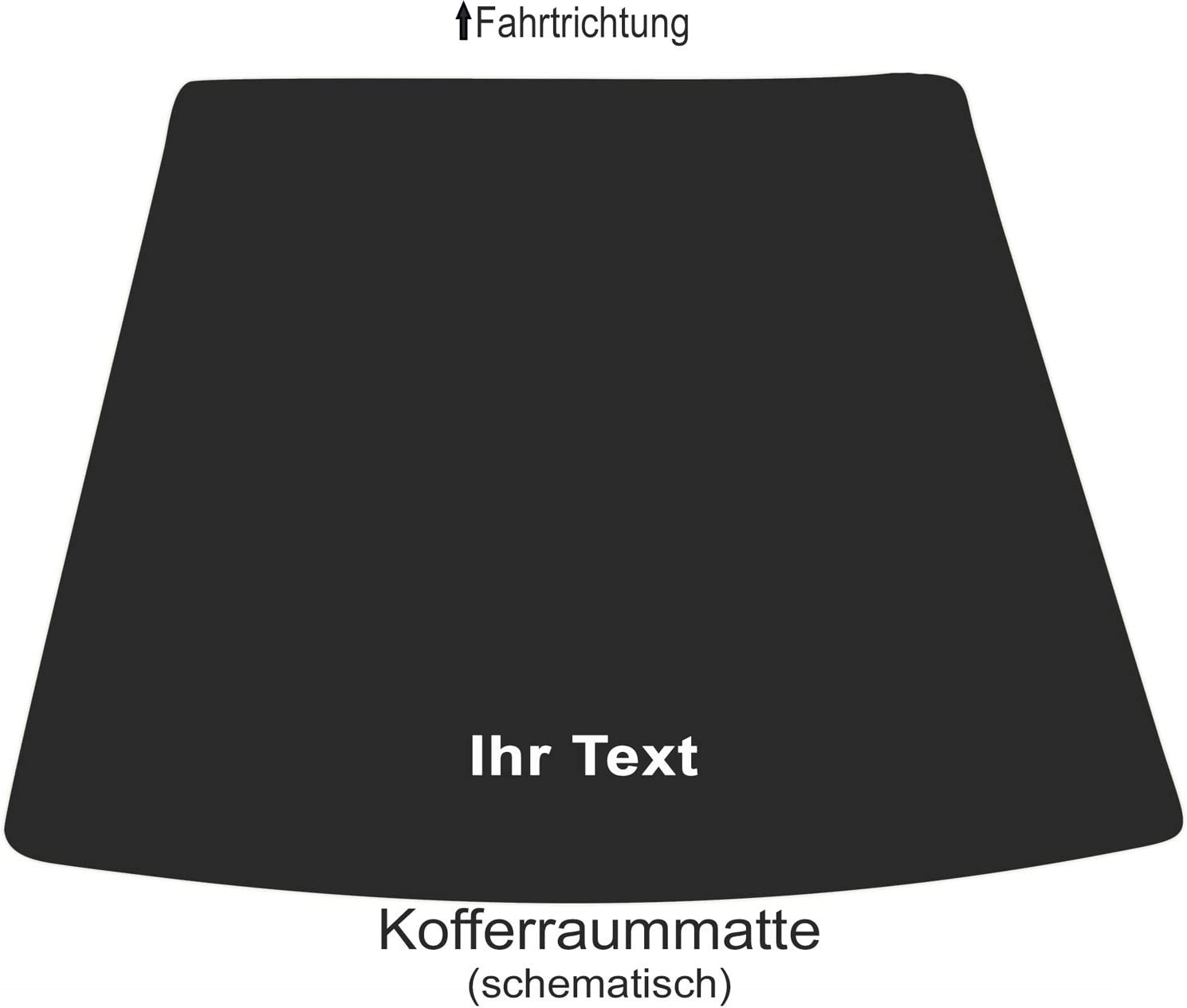 kh Teile Auto Fu/ßmatten B-E90 Bestickt mit Text Namen Werbung usw Lieferumfang: 2-teilig Fahrer + Beifahrer hochwertige Velour Automatte