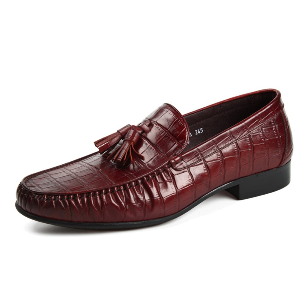 Zapatos Clásicos de Piel para Hombre Zapatos de Cuero para Hombres Negocios Ocio Zapatos de Estilo Británico en Punta Solo Respirables (Color : Marrón, Tamaño : EU43/UK8) EU43/UK8|Marrón
