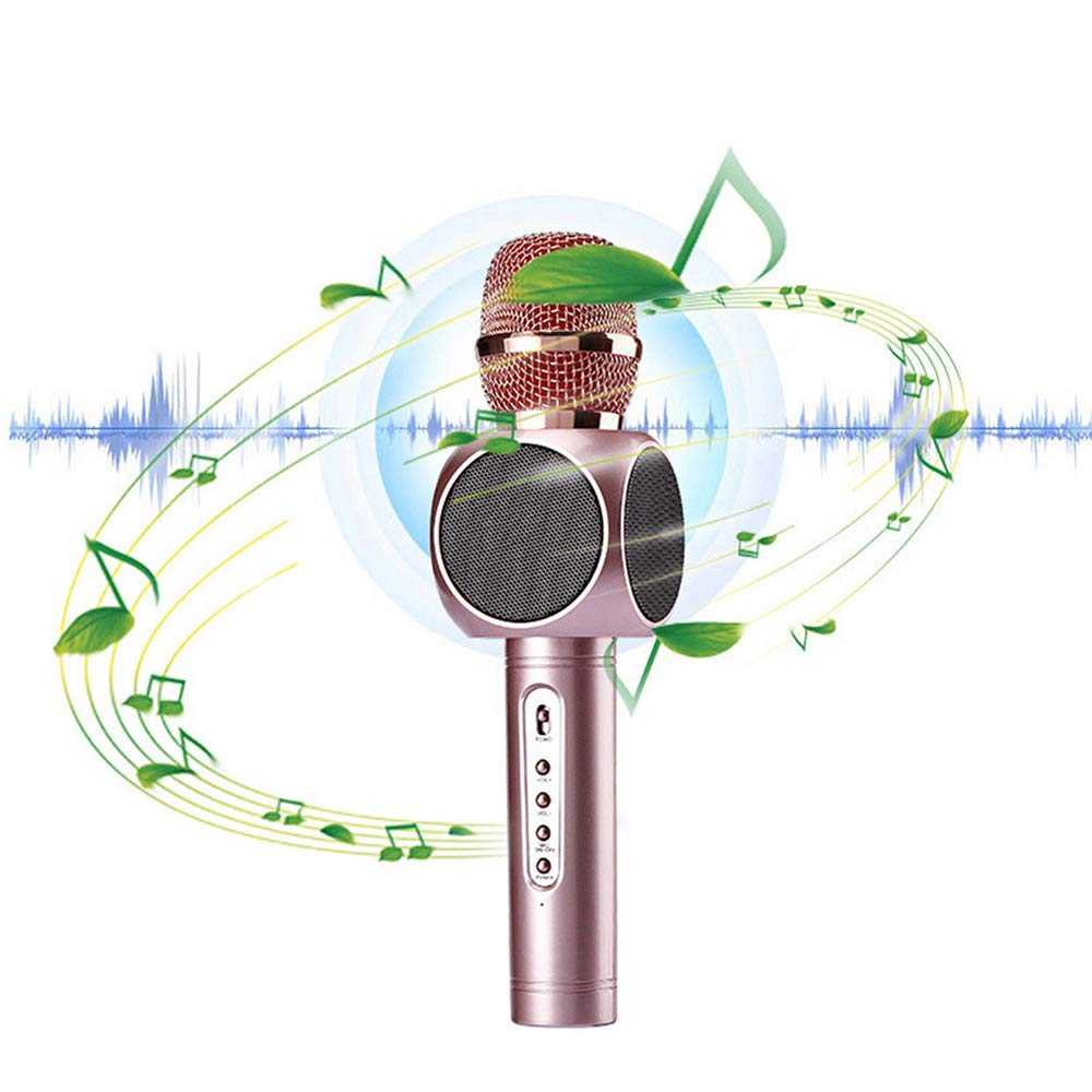 Wireless Karaoke Microphone Machine - Happytime Bluetooth Handheld Karaoke Microphones with Speaker for Home KTV Outdoor Picnic Family Party Music,for iOS & Android Smartphone,for Kids Adult