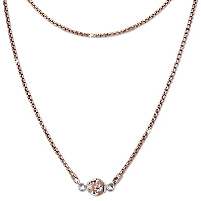 Silberdream Collier Rose Boule Aux Fleurs Argent 925 Femme