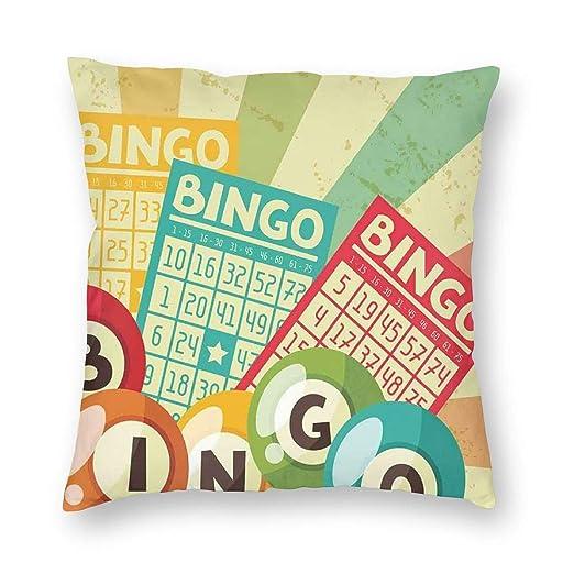 K0k2to Funda de cojín Vintage, Juego de Bingo con Pelota y ...