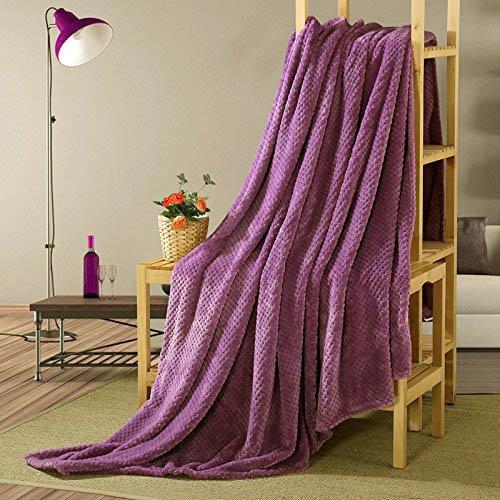 wonbye Velvet Plush Blanket, Home Fleece Bed Throw Blanket, Twin Size, Fushia