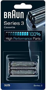Braun - Combi-pack 32S - Láminas de recambio + portacuchillas para afeitadoras Nueva Series 3 300/360/380/390cc: Amazon.es: Salud y cuidado personal