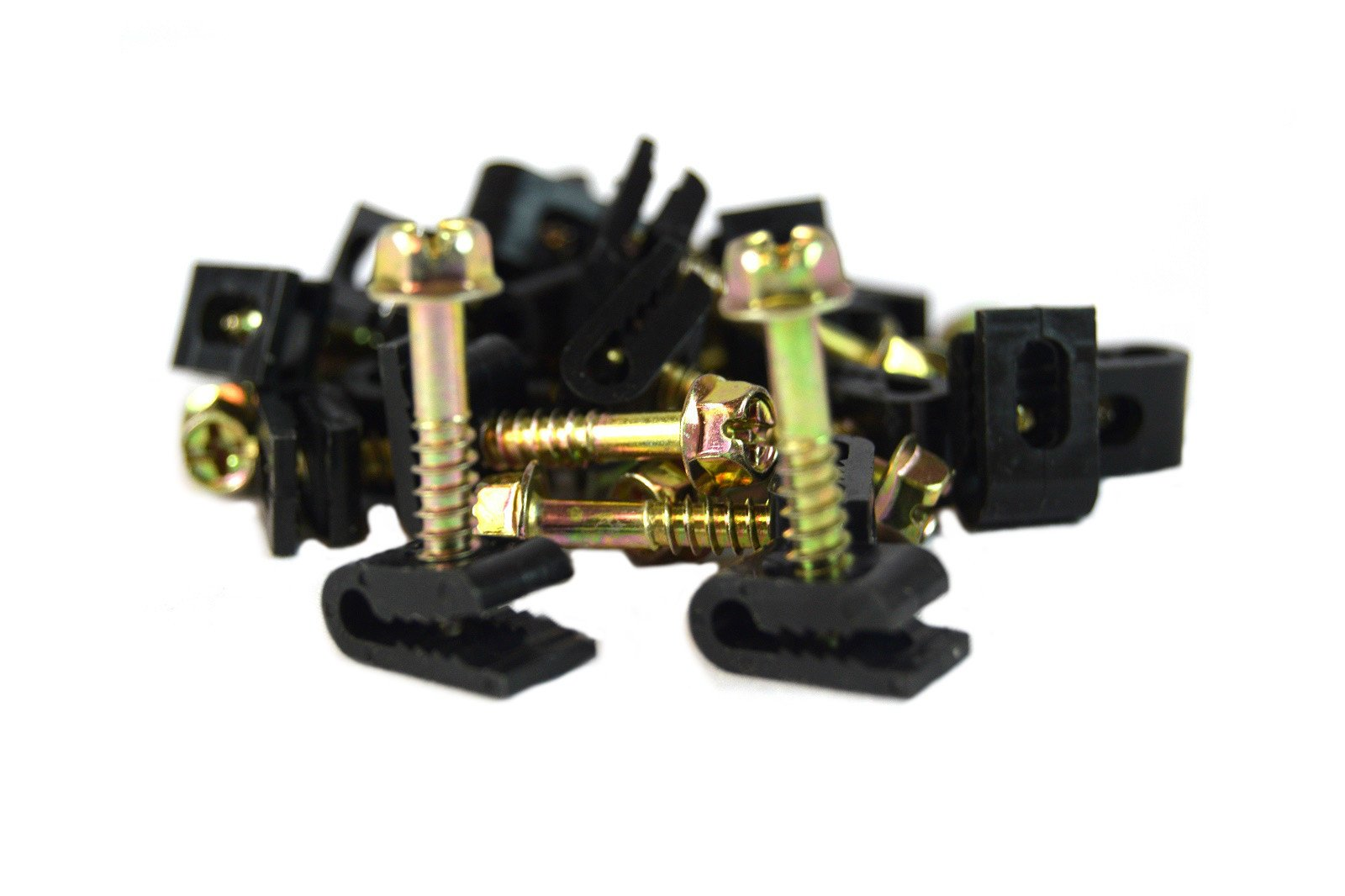 500 Pcs Ground Wire Black Flex Clips with Screw 10 12 14 Gauge GA AWG by WoldTec (Image #2)