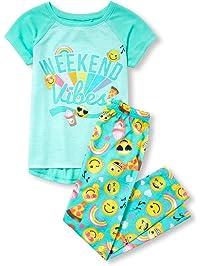 The Children s Place Big Girls  Novelty Printed Pants Pajama Set cc84a83c2