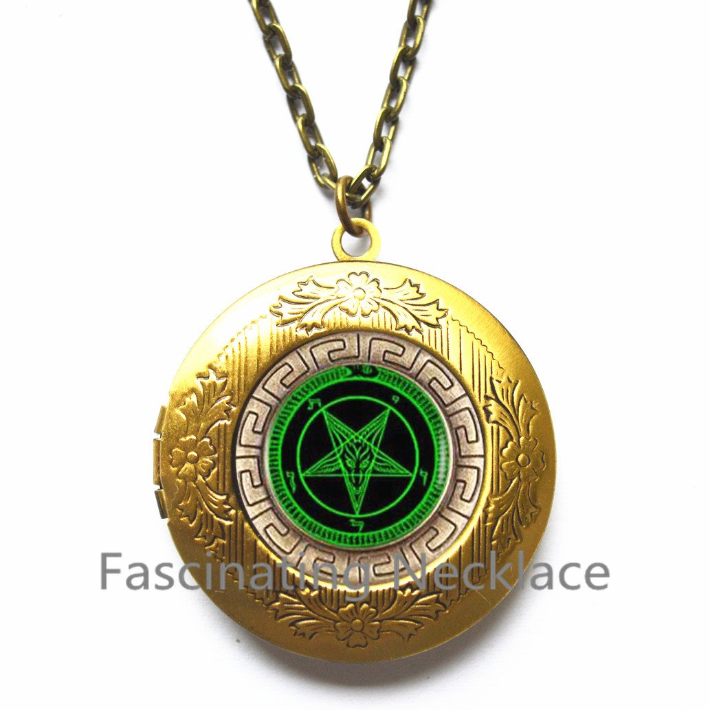 Pentagram Jewelry Astrology Locket Pendant,AE0128/ Pentagram Locket Necklace Pentagram Locket Pendant Wiccan Jewelry Wiccan Locket Necklace Wiccan Locket Pendant