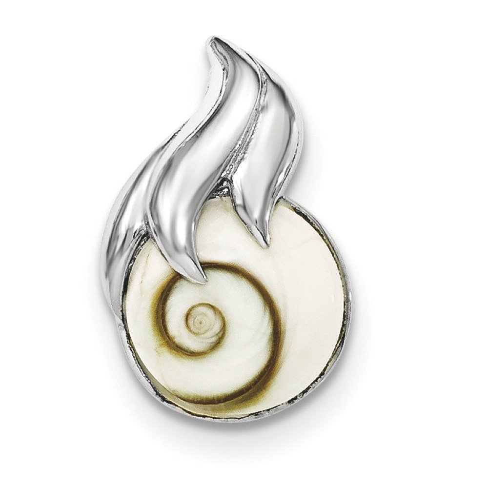 Pendants Accessories and Fashion Charms .925 Sterling Silver Polished Round Shiva Eye Chain Slide Pendant