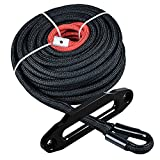 Astra Depot 85ft x 3//8 Synthetic Winch Rope Line Cable 20500LBs with All Heat Rock Guard Recovery 4x4 Truck Boat