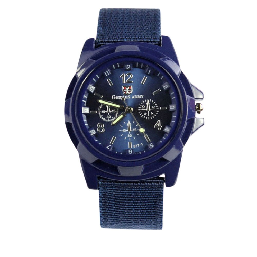 Bokeley Watch, Men's Watch Fashion Gemius Army Racing Force Military Sport Men Officer Fabric Band Watch (G)