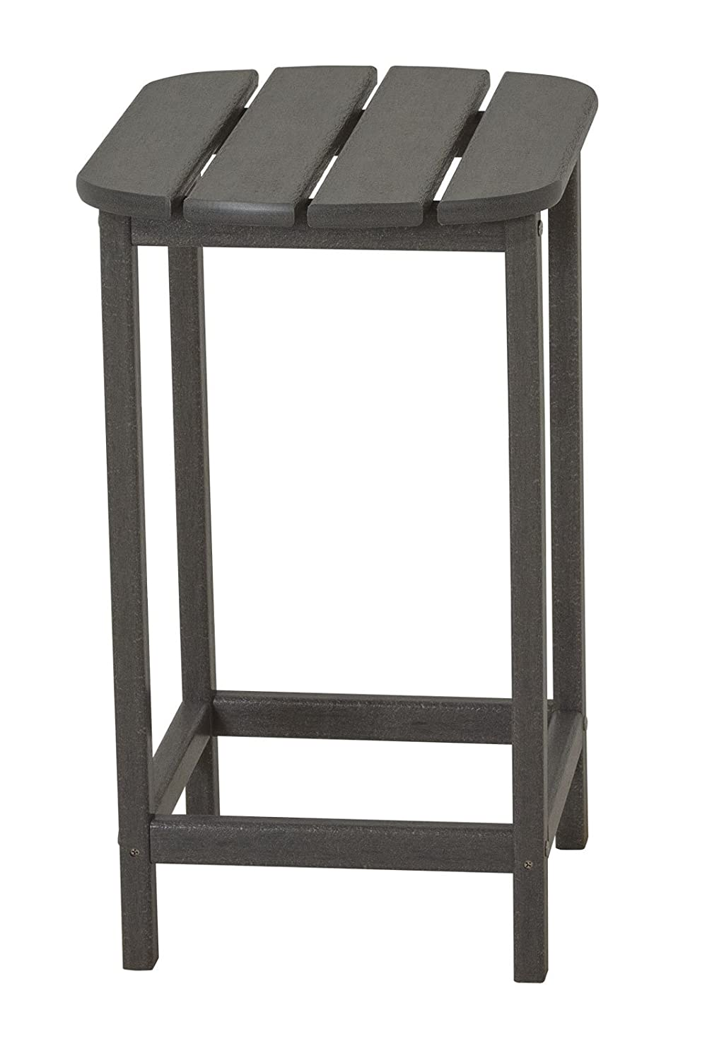 POLYWOOD SBT26GY South Beach Counter Side Table, 26-Inch, Slate Grey