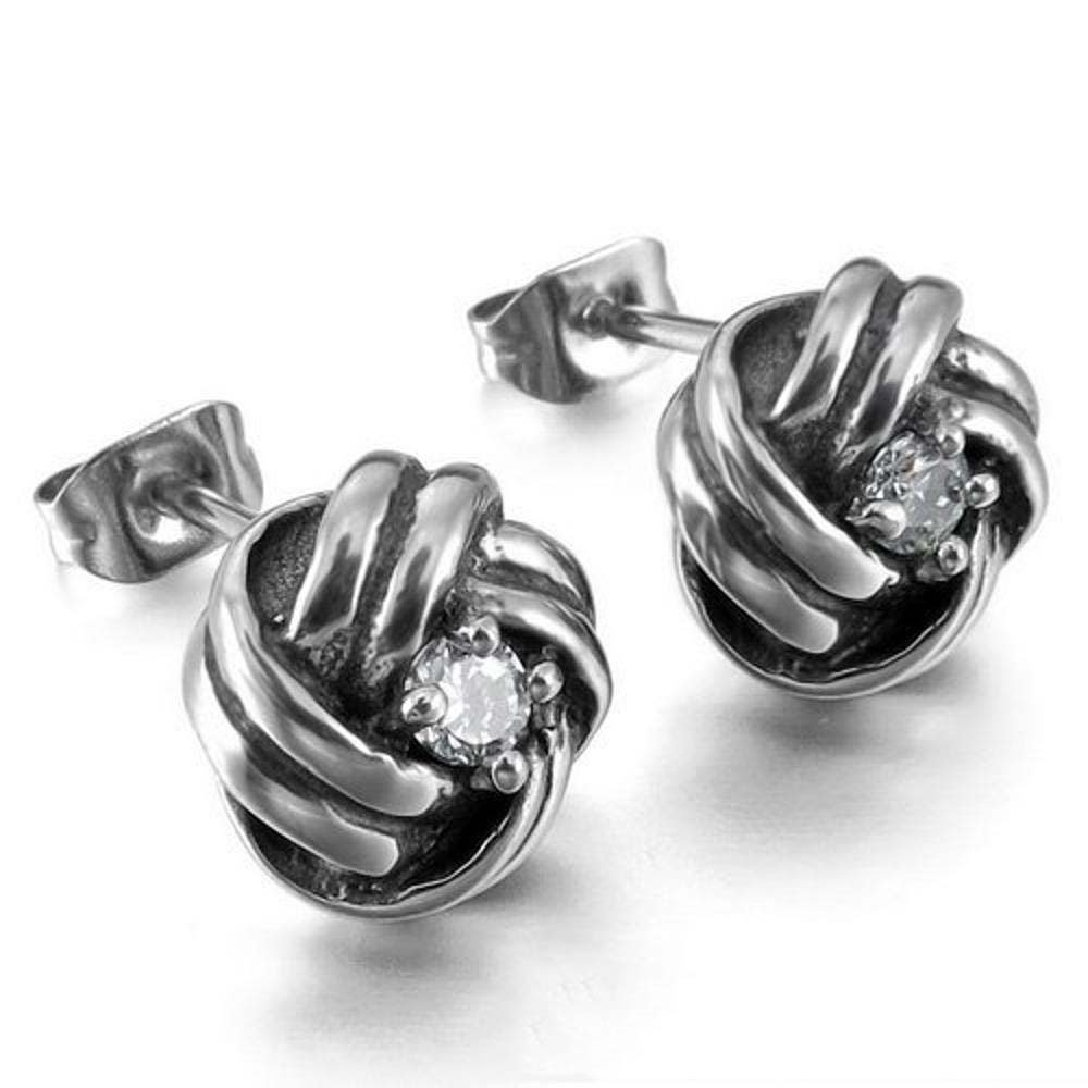 Ludage Earrings, Diamond Earrings Men and Women General Earrings Titanium Steel Earrings Ear Acupuncture Allergy Prevention