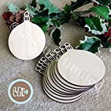 Christmas Wooden Round Baubles