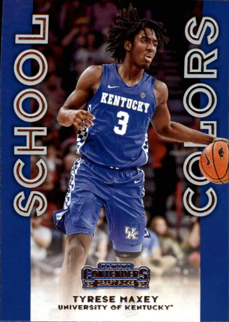 Amazon Com 2020 21 Contenders Draft Picks School Colors Basketball 9 Tyrese Maxey Kentucky Wildcats Official Ncaa Licensed Trading Card By Panini America Collectibles Fine Art