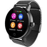 TOOGOO 09B Smart Watch Men 1.3 Inches Bluetooth Calling Music Playing Heart Rate Monitoring Smartwatch Black