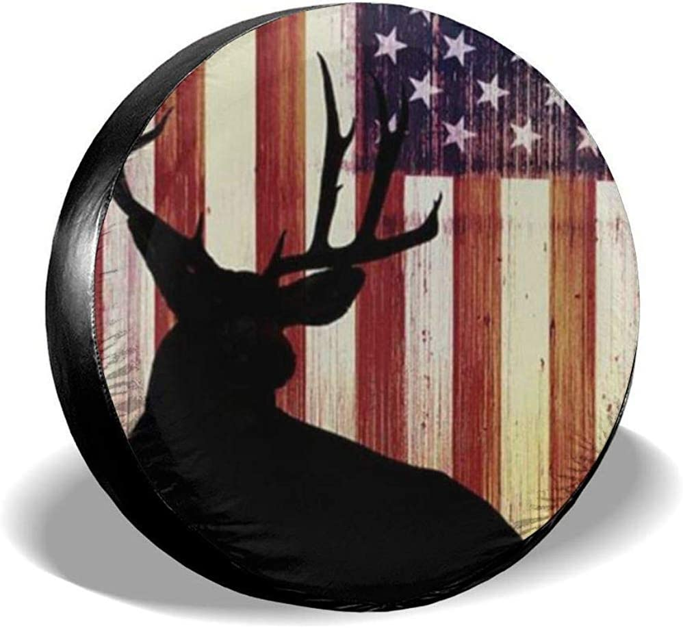 amerikanische Flagge Druck Rad Protektoren PVC wasserdicht staubdicht f/ür Jeep Trailer SUV Rv und viele Fahrzeuge 15 Zoll Reserveradabdeckung