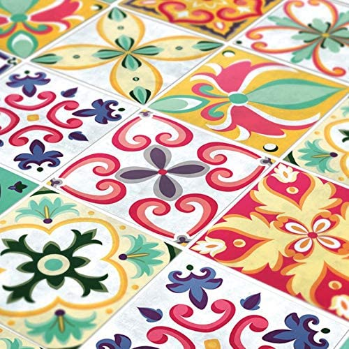 Ceramic Tile Moroccan Tile Design Bright Colors Pattern Kitchen Bathroom #41