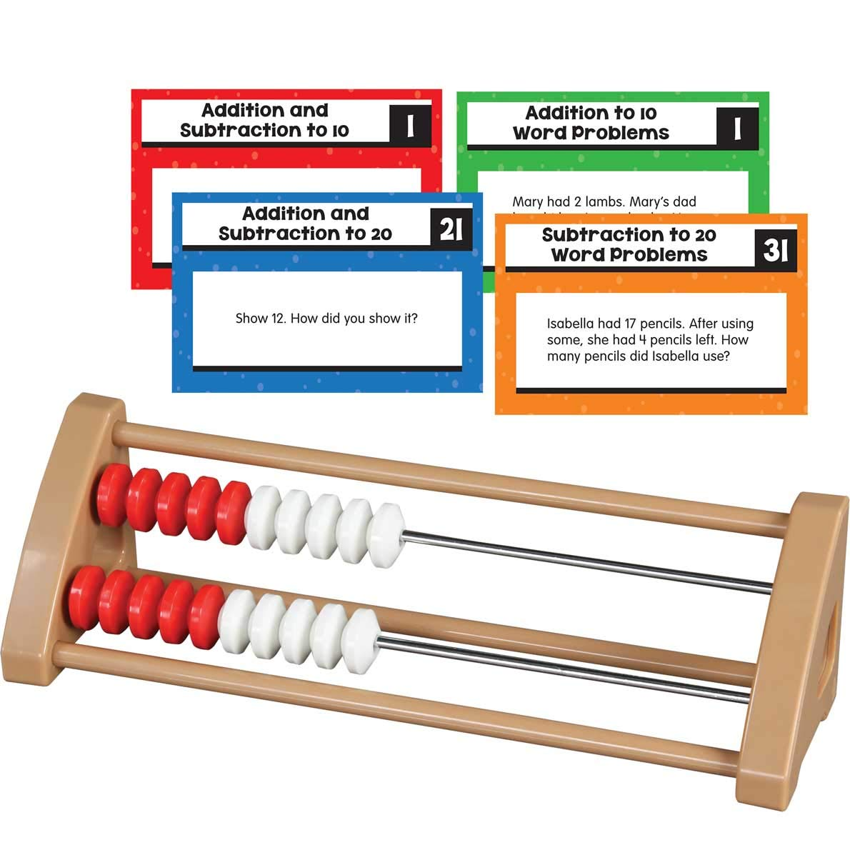 Really Good Stuff 20 Bead Student Rekenreks with Task Cards