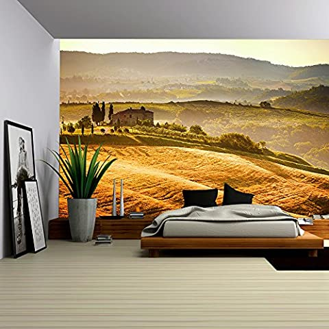 wall26 - View of Typical Tuscany Landscape - Removable Wall Mural | Self-adhesive Large Wallpaper - 66x96 (Tuscany Mural)