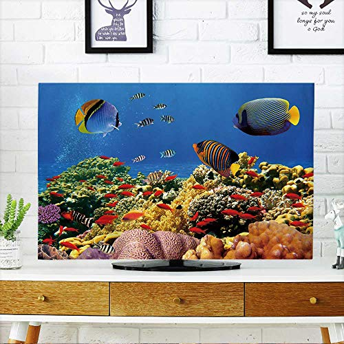 PRUNUS Front Flip Top Photo of a Coral Colony on a Reef,Egypt Front Flip Top W20 x H40 INCH/TV 40''-43'' by PRUNUS