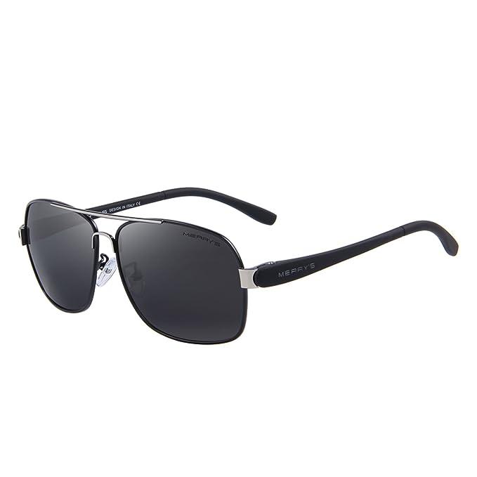 MERRY'S Herren Sonnenbrille, schwarz, S8286-1-Box1