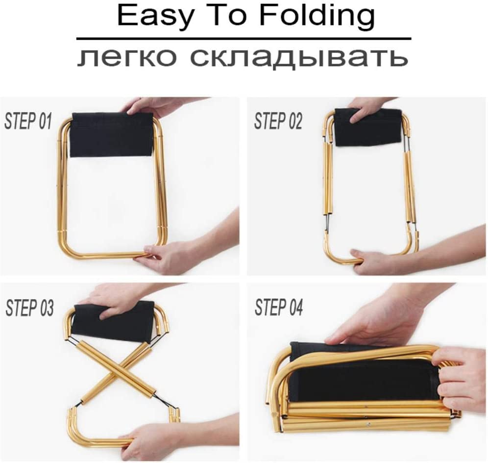 Ksde Upgrade Foldable Stool Aluminum Alloy Ultra-light Portable Small Chair Outdoor Simple Folding Fishing Seat Sketching Camping,01 02
