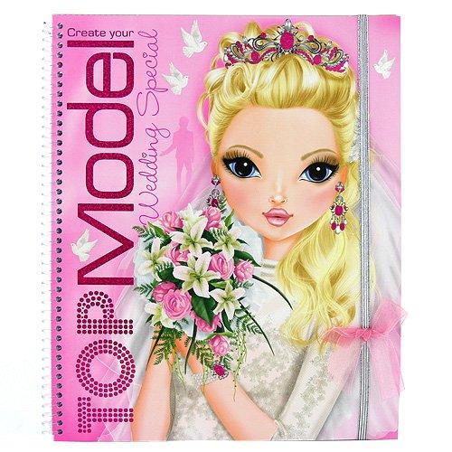 Album coloriage et création TOPModel Wedding - mariage