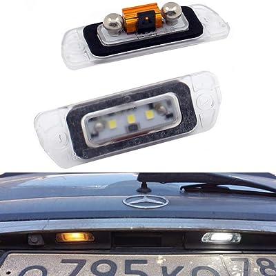 Xinctai 2PCS Error Free LED Rear License Plate Light Lamp for Mercedes Benz AMG X164 W164 W251 GL350 GL450 GL500 GL550 GL320 ML320 ML350 ML450 ML500 ML550 ML63 R350 R320 R500 R-Class ML-Class GL-Class: Automotive [5Bkhe0111741]