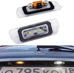 Xinctai 2PCS Error Free LED Rear License Plate Light Lamp for Mercedes Benz AMG X164 W164 W251 GL350 GL450 GL500 GL550 GL320 ML320 ML350 ML450 ML500 ML550 ML63 R350 R320 R500 R-Class ML-Class GL-Class