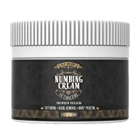 Premium Tattoo Numbing Cream - Ink Scribd - Topical Pain Treatment for Tattoos. Also for Laser Hair Removal, Brazilian Waxing, Microblading, Microneedling - Maximum Strength 5% Lidocaine (1 oz)
