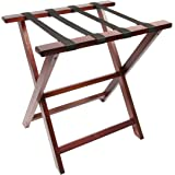Woodluv Foldable Luggage Rack Suitcase Stand, Pine Wood