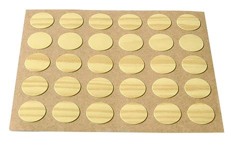 Brinox B77900X Embellecedor Cubre-Tornillos Adhesivo, Madera Pino Set de 30 Piezas