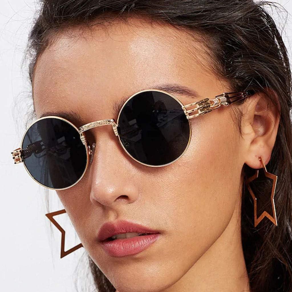 Occhiali da Sole Retro Uomo e Donna Lennon Rotondi Polarizzati in Metallo con Protezione UV400 YUTING