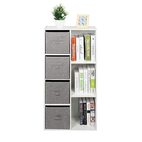 Cocoarm Modern Cube Storage Bookcase, 3 Tiers 9-Cube Bookshelf Modular Display Shelf Rack for Bedroom, Office and Livingroom, 36.2 x 11.8 x 36.2 inch