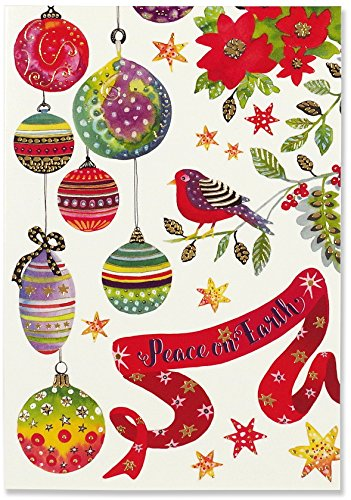 Bird & Ornaments Small Boxed Holiday Cards (Christmas Cards, Greeting Cards)