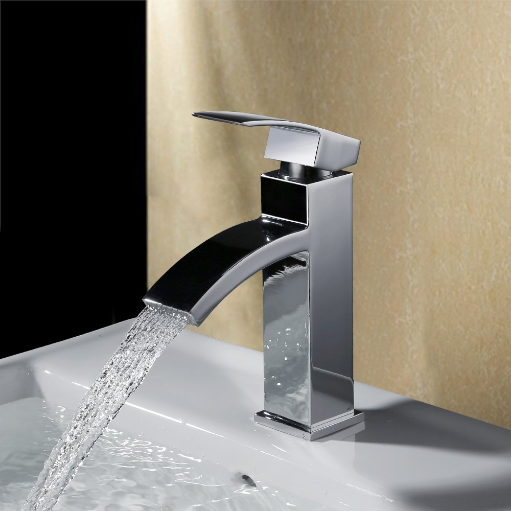 Bellissimo rubinetto a cascata per il tuo bagno, cromato! Homelody