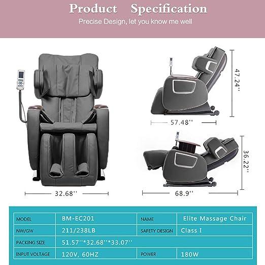Amazoncom Full Body Zero Gravity Shiatsu Massage Chair Recliner W