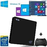 [Con Mini tastiera senza fili] SEGURO® Z83 mini compute Support for Windows TV Box Intel Atom x5-Z8350(2M Cache, up to 1.84 GHz) Intel HD Graphics DDR3 2GB/ Windows(C:) 32GB 1000Mbps LAN Bluetooth 4.0 WIFI IEEE 802.11a/b/g/n 2.4G+5.8G Mini PC