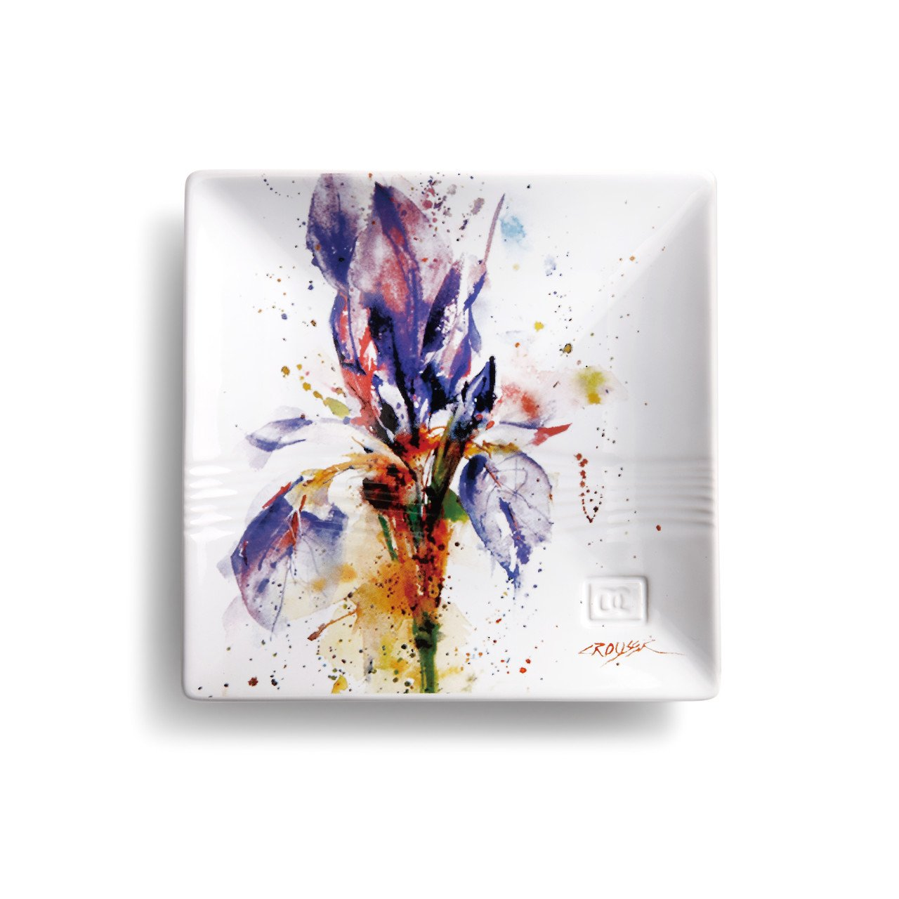 Demdaco 3005050987 Big Sky Carvers Iris Snack Plate, Multicolored