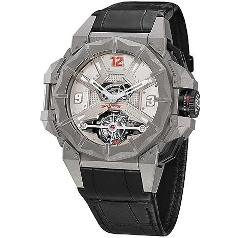 Snyper Reloj de Hombre Manual 53mm Correa de Cuero Caja de Titanio 70.910.00: Snyper: Amazon.es: Relojes
