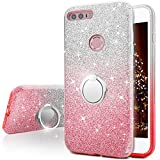 Huawei Honor 8 Case, Silverback Girls Bling Glitter Sparkle Cute Phone Case With 360 Rotating Ring Stand, Soft TPU Outer Cover + Hard PC Inner Shell Skin for Huawei Honor 8 -Pink Review