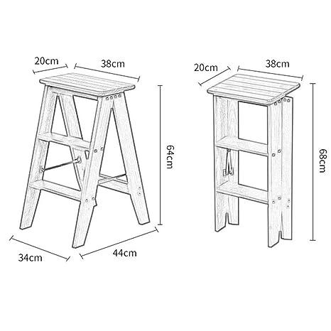 Enjoyable Amazon Com Home Wooden Folding Ladder 4 Steps Pine Chair Theyellowbook Wood Chair Design Ideas Theyellowbookinfo