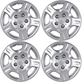 hyundai accent wheel center cap - OxGord Hubcaps for Hyundai (Pack of 4) Wheel Covers - 14 inch, Snap On, Silver